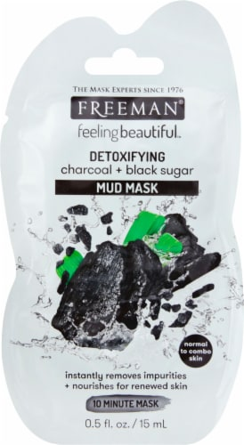 Freeman Feeling Beautiful Detoxifying Charcoal + Black Sugar Mud Mask Perspective: front