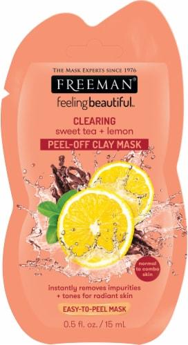 Freeman Clearing Sweet Tea & Lemon Peel-Off Clay Mask Perspective: front
