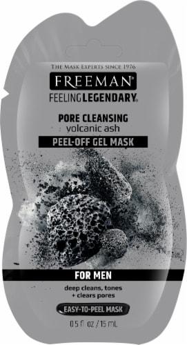 Freeman Men's Pore Cleansing Volcanic Ash Peel-Off Gel Mask Perspective: front