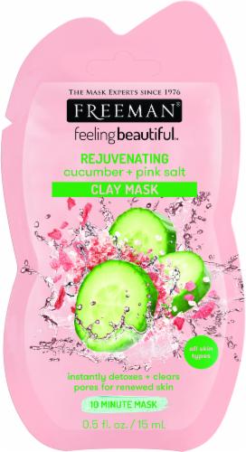 Freeman Rejuvenating Cucumber & Pink Salt Clay Mask Perspective: front