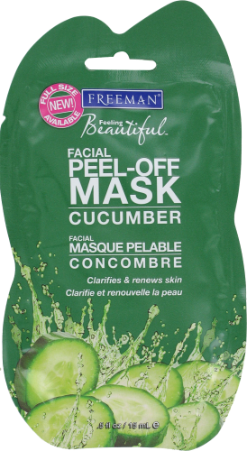 Freeman Cucumber Peel Off Facial Mask Perspective: front