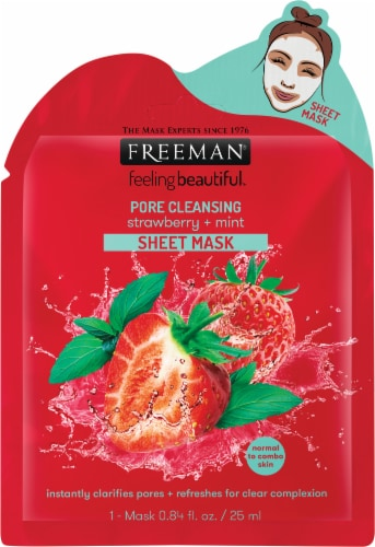 Freeman Pore Cleansing Strawberry & Mint Sheet Mask Perspective: front