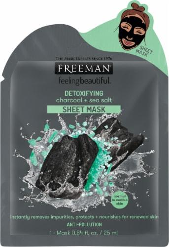 Freeman Detoxifying Charcoal & Sea Salt Sheet Mask Perspective: front