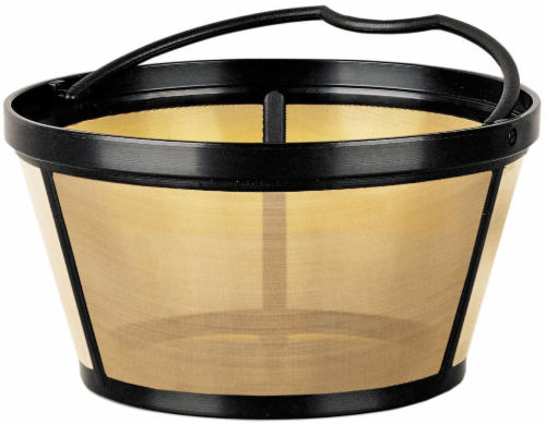 Mr. Coffee® Gold Tone Coffee Filter - Black/Gold Perspective: front
