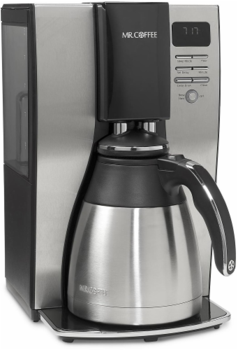 Mr. Coffee® Optimal Brew™ Programmable Thermal Coffee Maker - Silver/Black Perspective: front