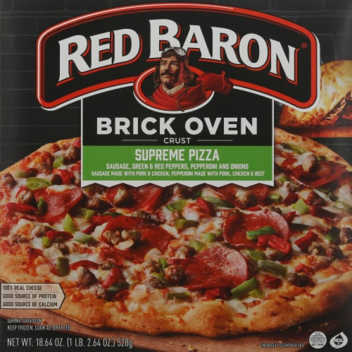 Red Baron Brick Oven Supreme Pizza Perspective: front