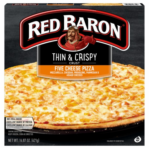 Red Baron Thin & Crispy Crust Five Cheese Pizza Perspective: front