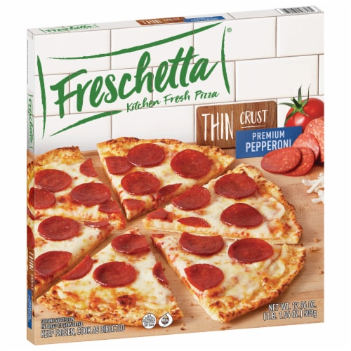 Freschetta Thin Crust Premium Pepperoni Pizza Perspective: front
