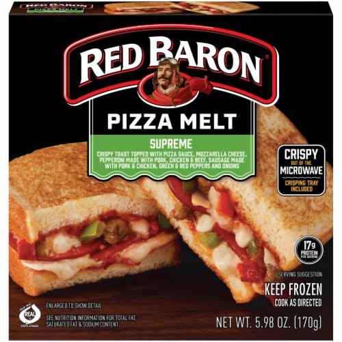 Red Baron Supreme Pizza Melt Perspective: front