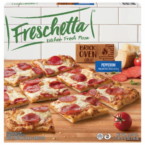 Freschetta Pepperoni Brick Oven Crust Pizza Perspective: front