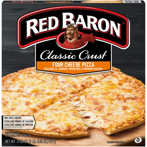 Red Baron Classic Crust Four Cheese Pizza Perspective: front