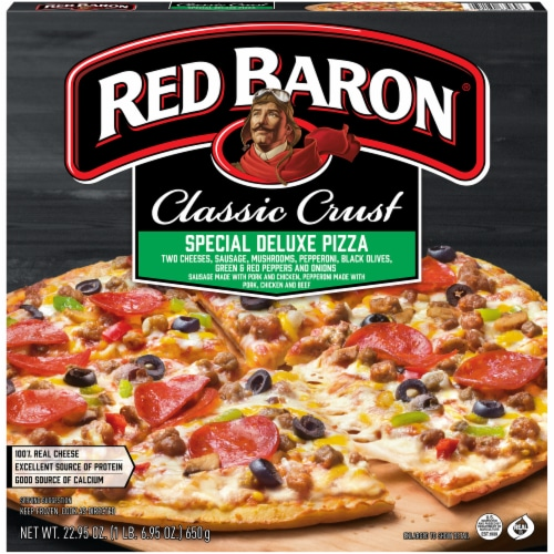 Red Baron Classic Crust Special Deluxe Pizza Perspective: front