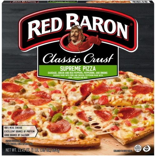 Red Baron Classic Crust Supreme Pizza Perspective: front