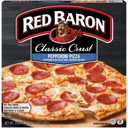 Red Baron Classic Crust Pepperoni Pizza Perspective: front