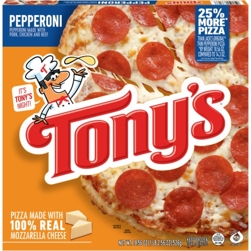 Tony's Pizzeria Style Pepperoni Frozen Pizza Perspective: front