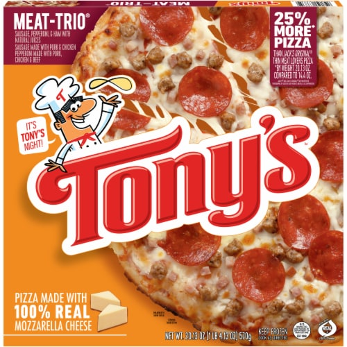 Tony's Pizzeria Style Meat Trio Frozen Pizza Perspective: front