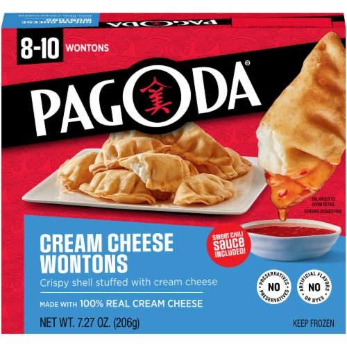 PAGODA Cream Cheese Wontons Perspective: front