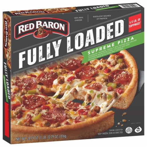 Red Baron® Fully Loaded Supreme Pizza Perspective: front