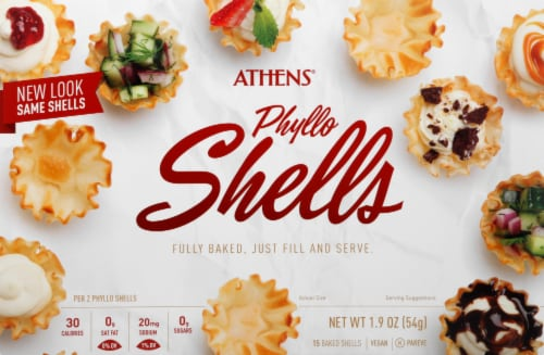 Athens Phyllo Mini Shells Perspective: front