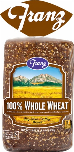 Franz Big Horn Valley 100% Whole Wheat Bread Perspective: front