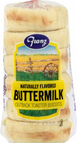 Franz Buttermilk Outback Toaster Biscuits Perspective: front
