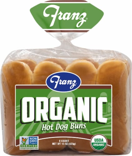 Franz Organic Hot Dog Buns Perspective: front