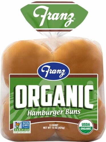 Franz Organic Hamburger Buns Perspective: front