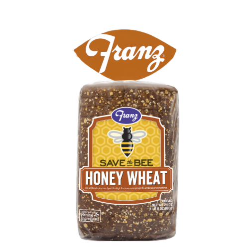 Franz® Save the Bee Honey Wheat Bread Perspective: front