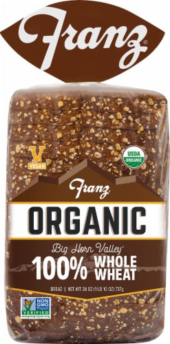 Franz® Organic Big Horn Valley 100% Whole Wheat Bread Perspective: front