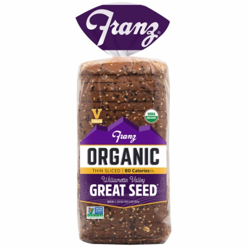 Franz Williamette Valley Organic Thin Sliced Great Seed Bread Perspective: front