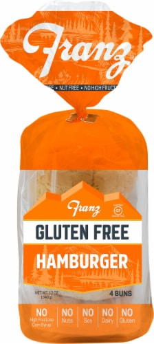 Franz Gluten Free Hamburger Buns Perspective: front