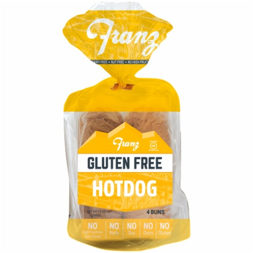 Franz Gluten Free Hot Dog Buns Perspective: front