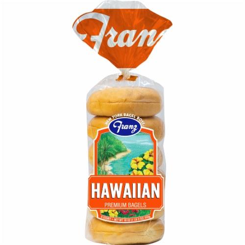 Franz Hawaiian Premium Bagels Perspective: front