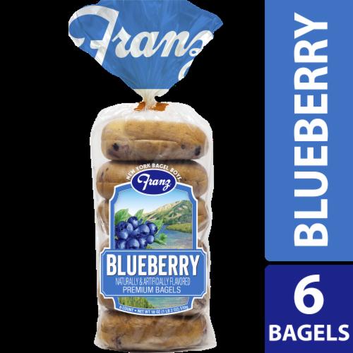 Franz Blueberry Premium Bagels 6 Count Perspective: front