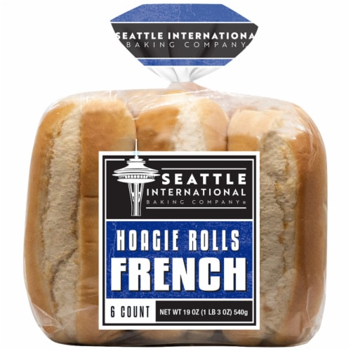 Seattle International French Baking Company Hoagie Rolls Perspective: front