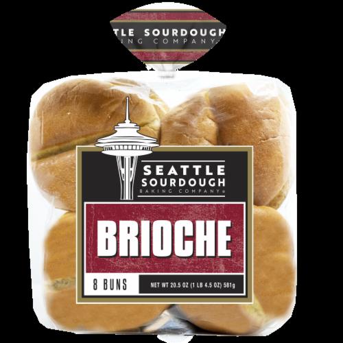 Seattle Sourdough Backing Company Brioche Hamburger Bun Perspective: front