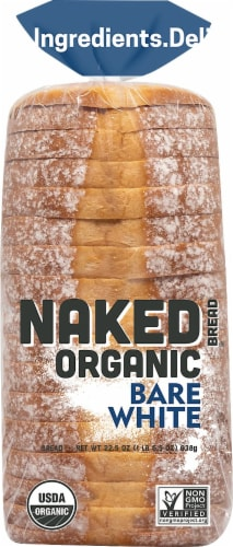 Naked Organic Bare White Bread Perspective: front