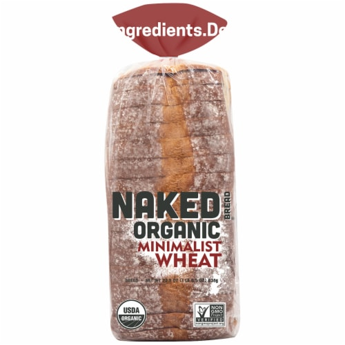 Naked Bread Organic Minimalist Wheat Bread Perspective: front