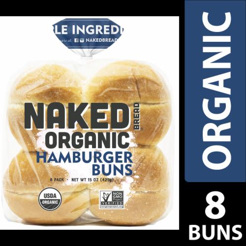Naked Bread® Organic Hamburger Buns Perspective: front