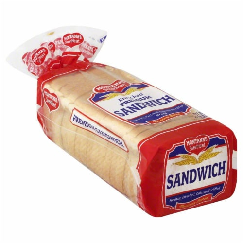 Montana's Sweetheart Sandwich Thin White Bread Perspective: front