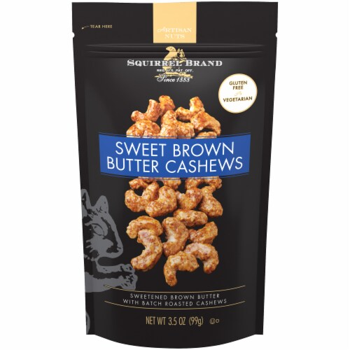 The Squirrel Brand Sweet Brown Butter Cashews Perspective: front
