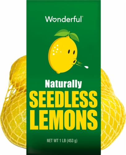 Wonderful Seedless Lemons Perspective: front