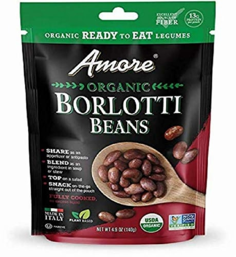 Amore Organic Borlotti Beans Perspective: front