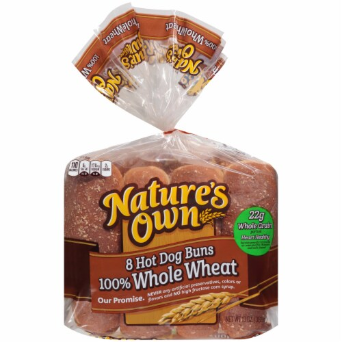 Nature's Own 100% Whole Wheat Hot Dog Buns Perspective: front