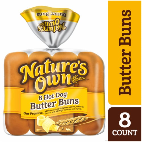 Nature's Own Butter Hot Dog Buns Perspective: front