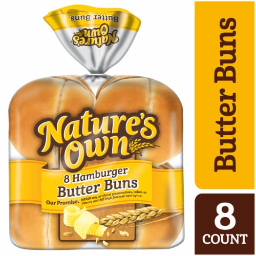 Nature's Own Hamburger Butter Buns Perspective: front