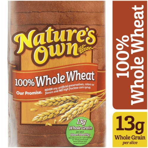 Nature's Own 100% Whole Wheat Sliced Bread Perspective: front