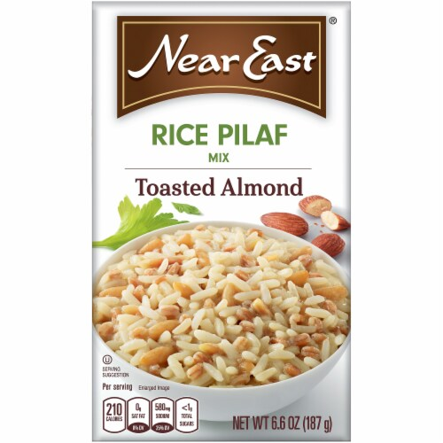 Near East Toasted Almond Rice Pilaf Mix Perspective: front