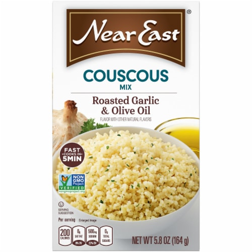 Near East Roasted Garlic & Olive Oil Couscous Mix Perspective: front