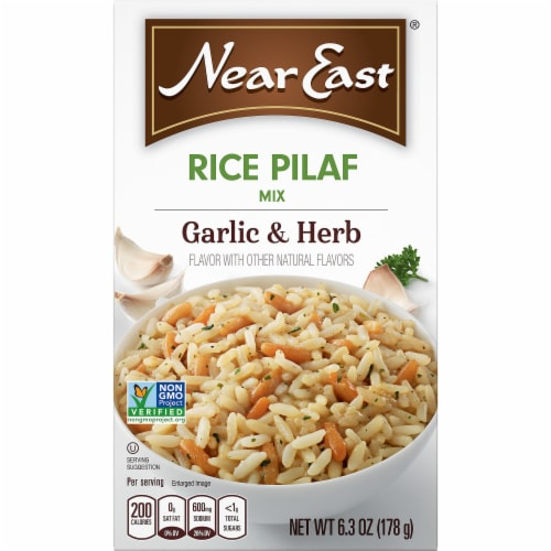 Near East® Garlic & Herb Rice Pilaf Mix Perspective: front